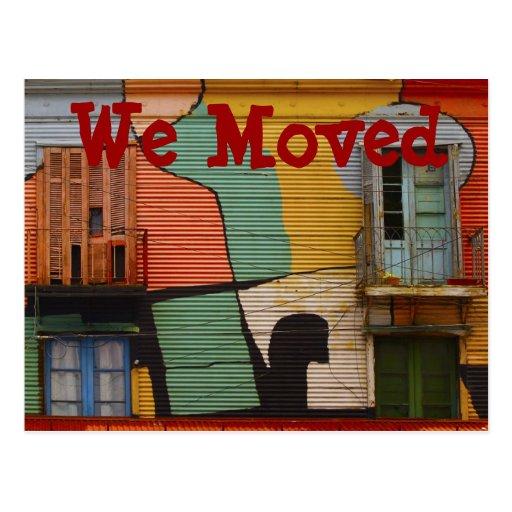 Cabaña colorida movimos las postales