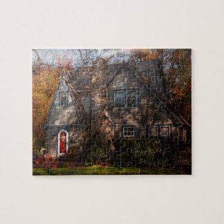 Cabaña - Cranford, NJ - cabaña del otoño Rompecabezas