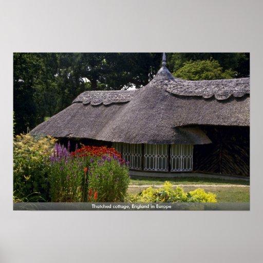 Cabaña cubierta con paja, Inglaterra en Europa Impresiones