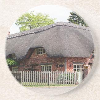 Cabaña cubierta con paja, Reino Unido 12 Posavasos Manualidades