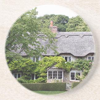 Cabaña cubierta con paja, Reino Unido 7 Posavasos Manualidades