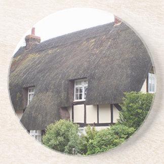 Cabaña cubierta con paja, Reino Unido 9 Posavasos Diseño