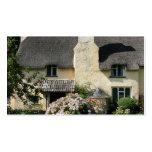 Cabaña cubierta con paja, Selworthy, Exmoor, Somer Plantillas De Tarjeta De Negocio