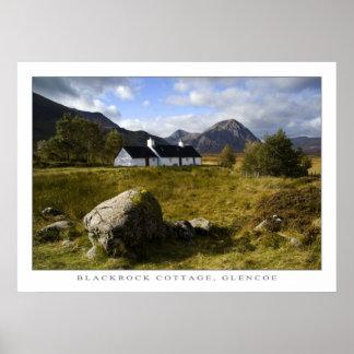 Cabaña de Blackrock, Escocia Posters