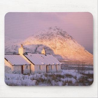 Cabaña de Blackrock, Glencoe, montañas, Escocia 2 Tapete De Ratón