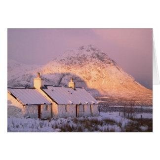 Cabaña de Blackrock, Glencoe, montañas, Escocia 2 Felicitaciones
