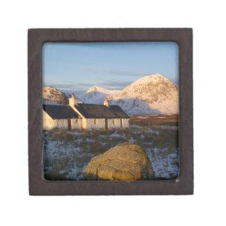 Cabaña de Blackrock, Glencoe, montañas, Escocia 3 Cajas De Regalo De Calidad