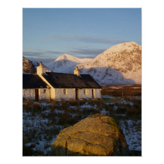 Cabaña de Blackrock, Glencoe, montañas, Escocia 3 Poster