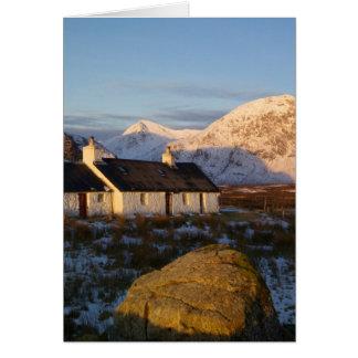Cabaña de Blackrock, Glencoe, montañas, Escocia 3 Tarjetas