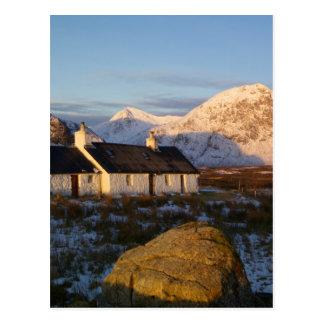 Cabaña de Blackrock, Glencoe, montañas, Escocia 3 Tarjeta Postal