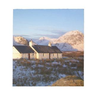 Cabaña de Blackrock, Glencoe, montañas, Escocia Blocs
