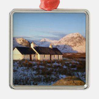 Cabaña de Blackrock, Glencoe, montañas, Escocia Adorno De Navidad