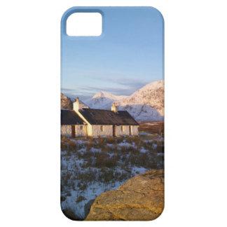 Cabaña de Blackrock, Glencoe, montañas, Escocia iPhone 5 Case-Mate Funda