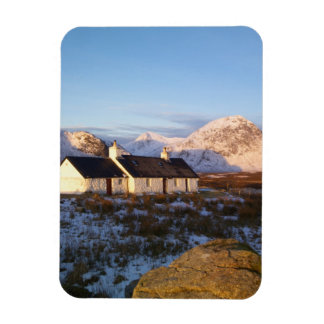 Cabaña de Blackrock, Glencoe, montañas, Escocia Imanes De Vinilo