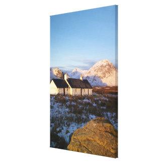 Cabaña de Blackrock, Glencoe, montañas, Escocia Impresiones De Lienzo