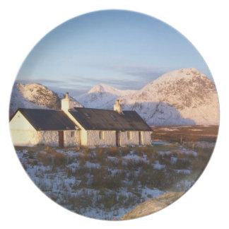 Cabaña de Blackrock, Glencoe, montañas, Escocia Platos De Comidas