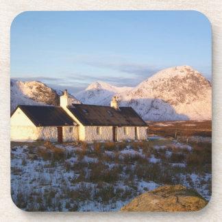 Cabaña de Blackrock, Glencoe, montañas, Escocia Posavasos De Bebida