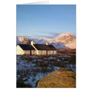 Cabaña de Blackrock, Glencoe, montañas, Escocia Felicitaciones