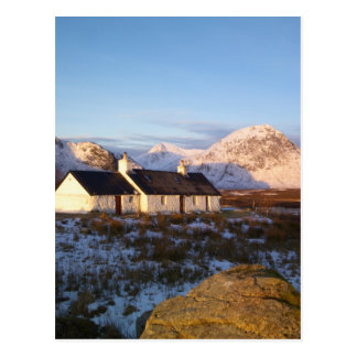 Cabaña de Blackrock, Glencoe, montañas, Escocia Postal