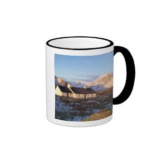 Cabaña de Blackrock, Glencoe, montañas, Escocia Tazas De Café