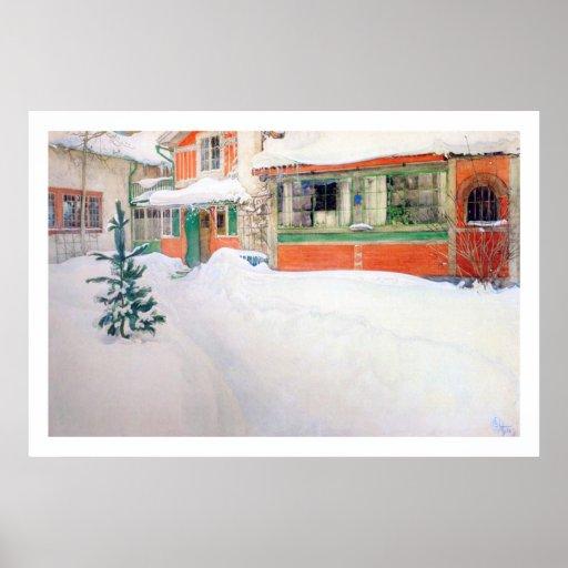Cabaña de Carl Larsson en la impresión de la bella Posters