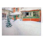 Cabaña de encargo de la tarjeta de Navidad de Carl