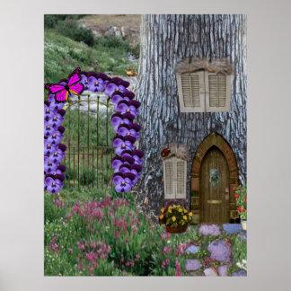Cabaña de la hada de la puerta de jardín impresiones