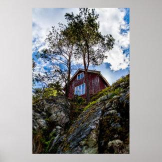 Cabaña de la montaña posters