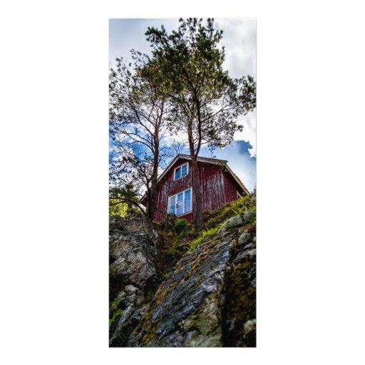 Cabaña de la montaña tarjeta publicitaria