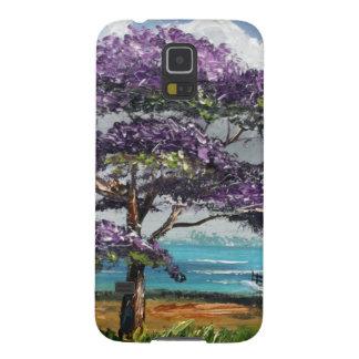 Cabaña de la playa del Jacaranda Fundas Para Galaxy S5