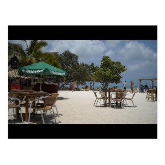 Cabaña de la playa postal