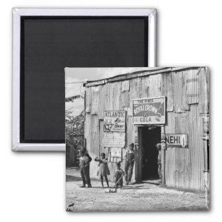 Cabaña de la soda, los años 40 imán cuadrado
