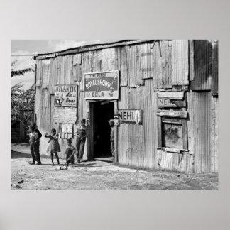 Cabaña de la soda, los años 40 impresiones