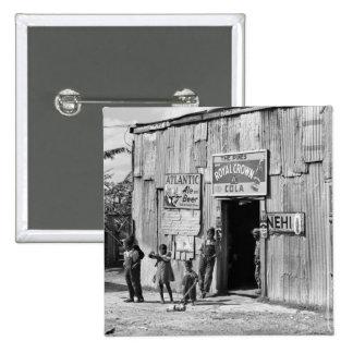 Cabaña de la soda, los años 40 pin cuadrado
