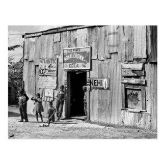 Cabaña de la soda, los años 40 postales