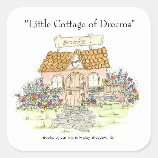 Cabaña de los sueños que publican al pegatina