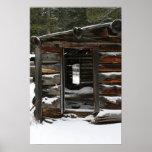 Cabaña de madera abandonada, Colorado Póster