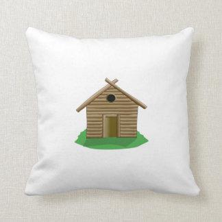 Cabaña de madera cojin