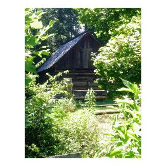 cabaña de madera plantillas de membrete