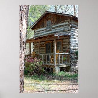 Cabaña de madera posters