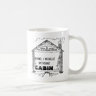 Cabaña de madera personalizada a casa taza de café
