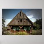 Cabaña de madera - poster