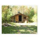 Cabaña de madera rústica foto