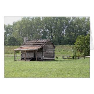 Cabaña de madera tarjeta de felicitación