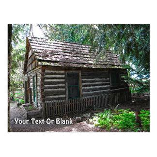 Cabaña de madera postal