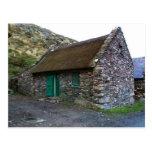 Cabaña de piedra cubierta con paja, Kerry, postale