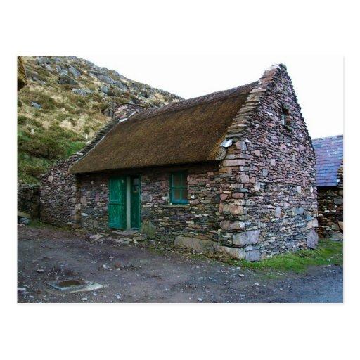 Cabaña de piedra cubierta con paja, Kerry, postale Postal