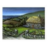 Cabaña de piedra en Donegal Tarjeta Postal