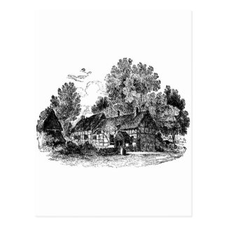 Cabaña de Shottery Postal