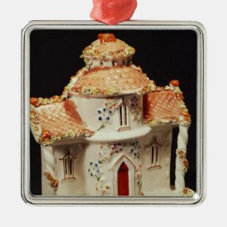 Cabaña de Staffordshire, C. 1860 Ornamentos De Navidad